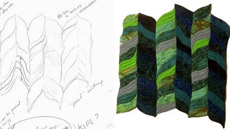 Waterweave quilt and sketch blog