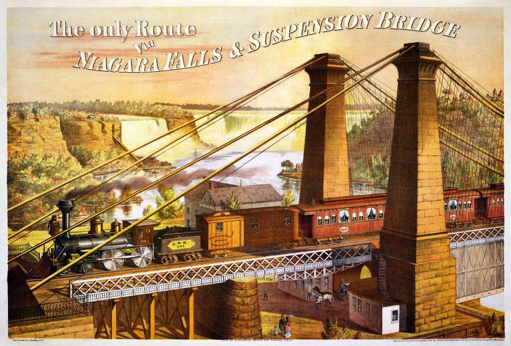 Niagra rail way suspension bridge
