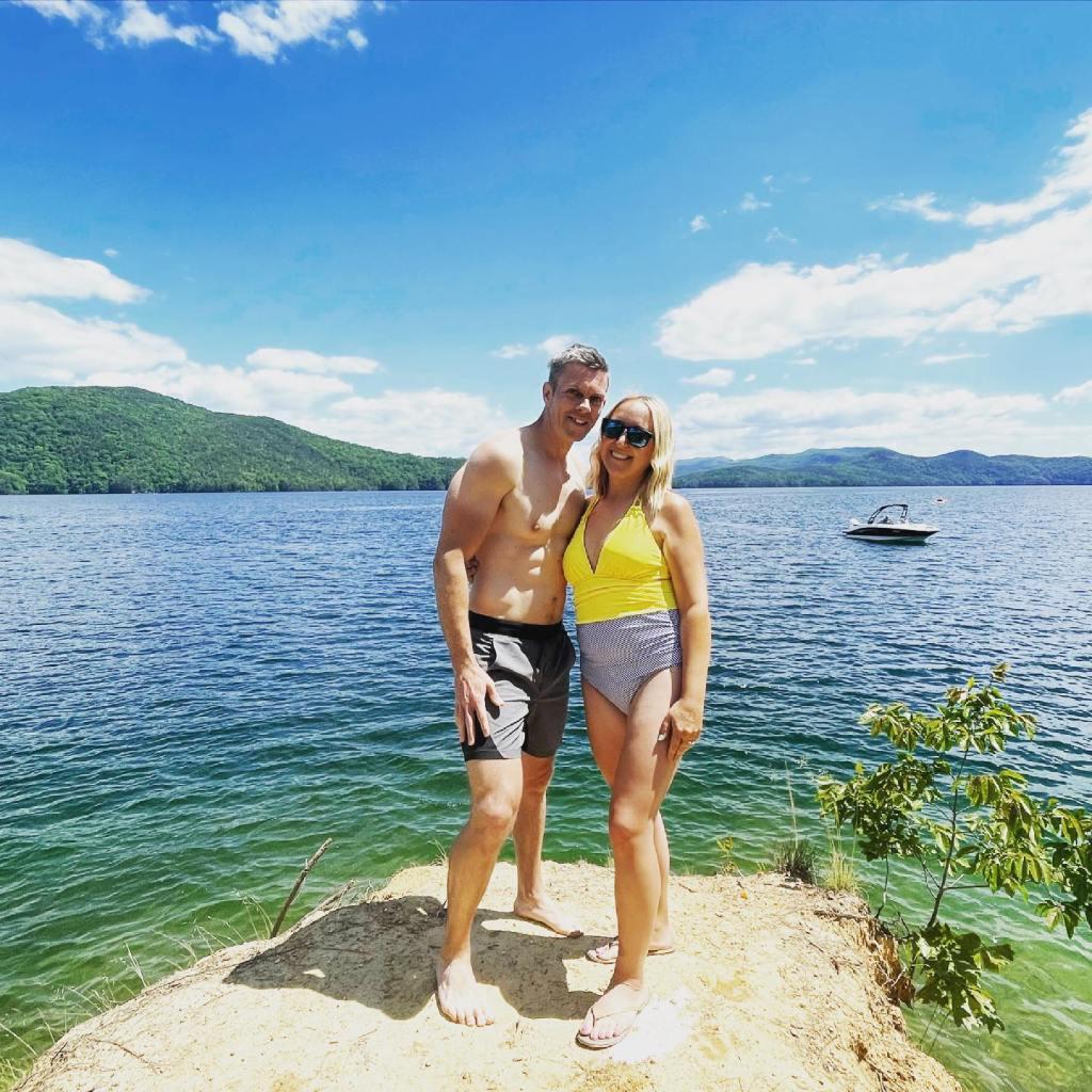 Me and my husband on Lake Jocasse