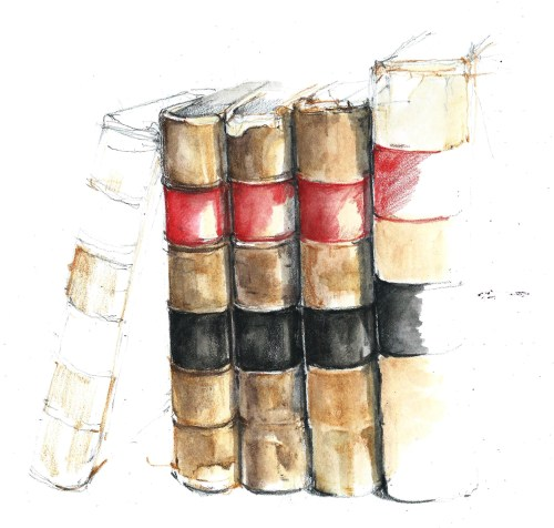 17Apr15 books wip closeup