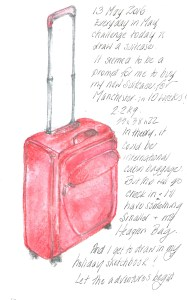 13May2016 draw a suitcase