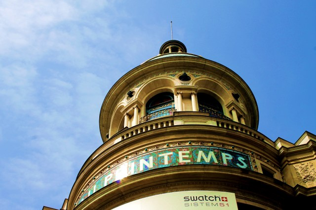 The dome of the luxury department store 'Printemps'