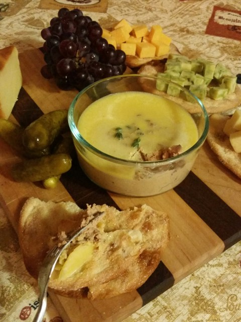 A Literary Feast -- pate and cheese