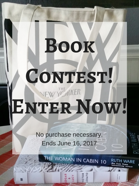 Book review, Free books, book contest, book giveaway, Edgar and Lucy, The Woman in Cabin 10, The New Yorker