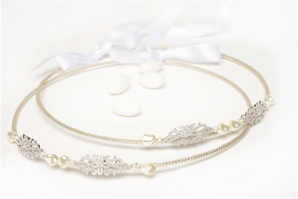 STEFANA Wedding Crowns Bridal Crowns MEDITTERANEAN One Pair Orthodox Stefana