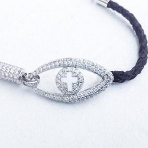Cross & Evil Eye Bracelet