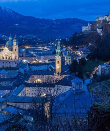 salzburg austria at night