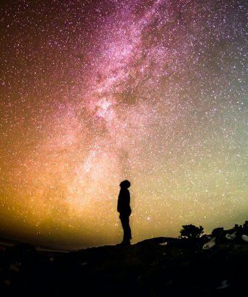 human spacescape silhouette