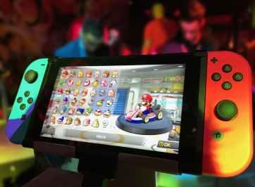 Nintendo Switch displaying Mario Kart