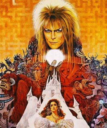 David Bowie on Poster for Labyrinth
