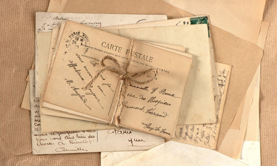 stack of handwritten letters