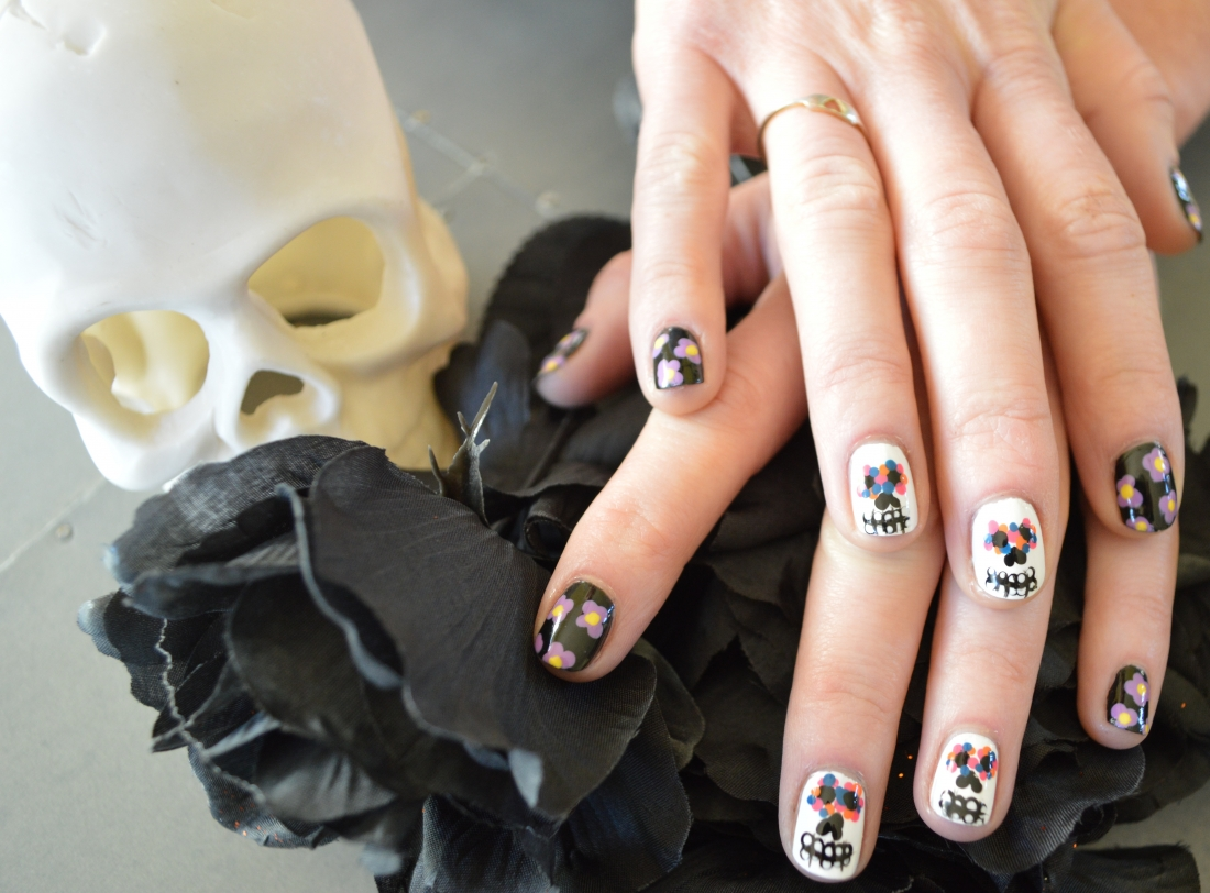 Day of the Dead Nails – A Little Bit of Blonde | On-site Hairstylist ...