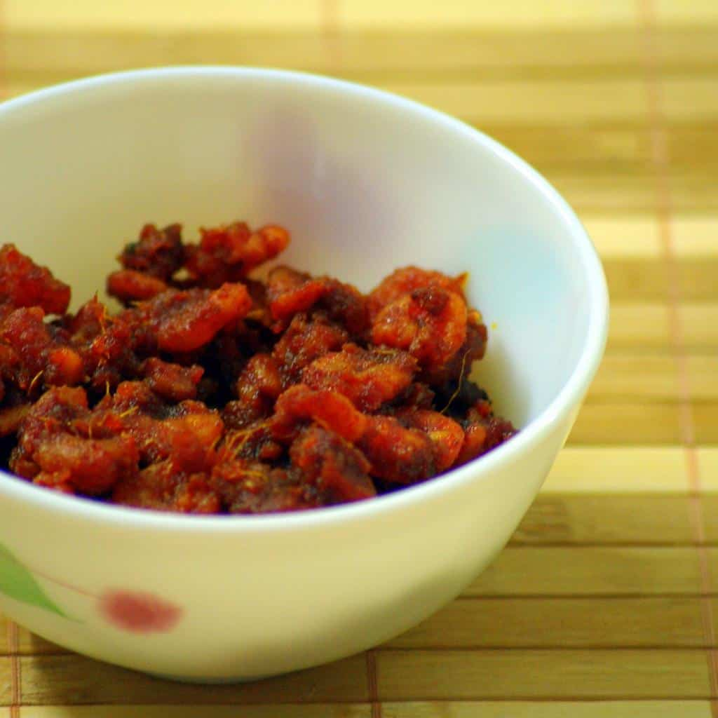 South Kerala red chilli shrimp pickle