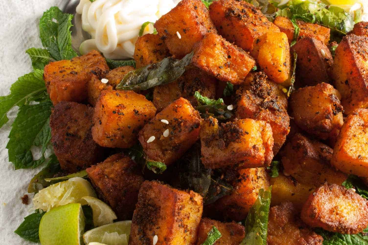 Paneer Masala Fry (Indian Cottage cheese fry)