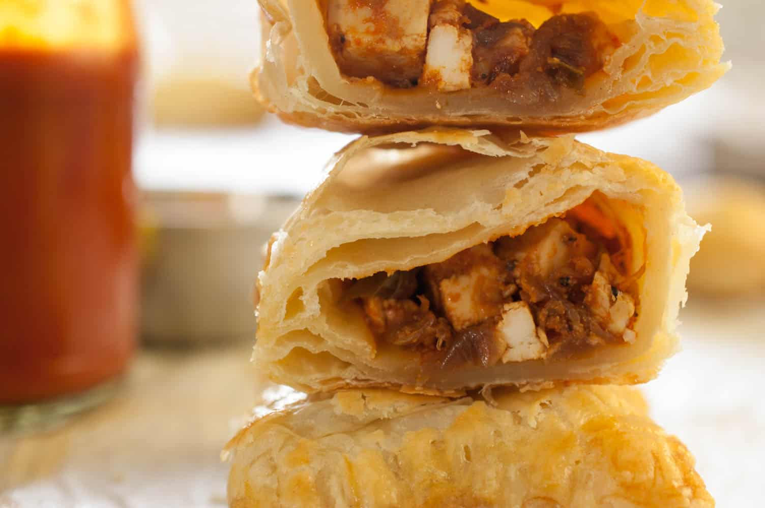 Indian Style Paneer Puff Pastry (Indian Cottage Cheese Puff Pastry)