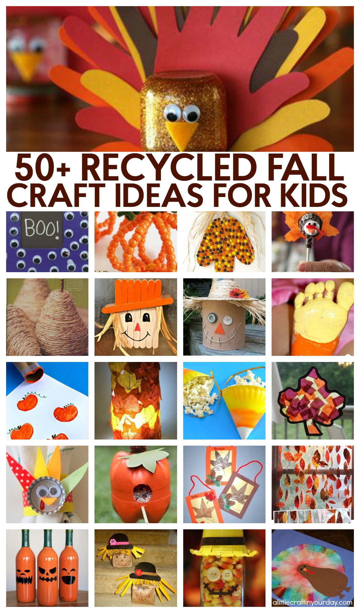 51 Recycled Fall Kids Crafts