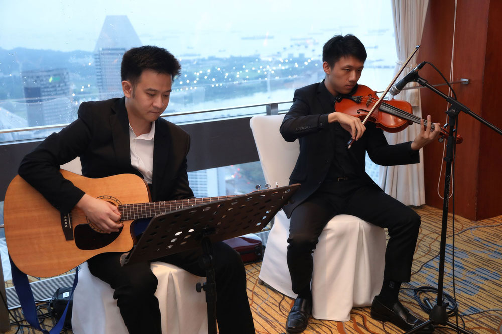 Finnair 7 years anniversary level 69 swissotel live music band