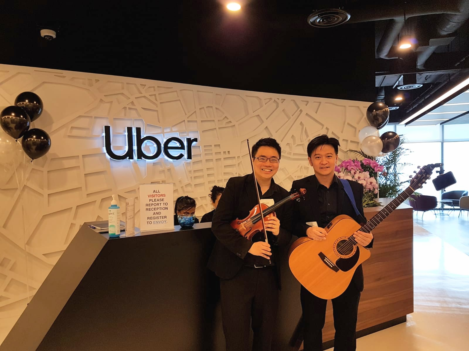 Uber Singapore Corporate Dnd Launch Live Band Music Singapore