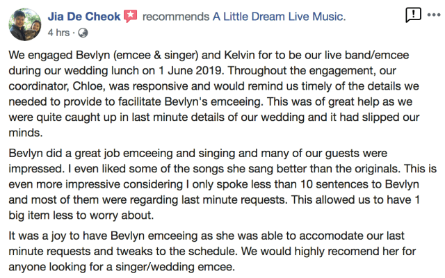 Best Singapore Live Band Review