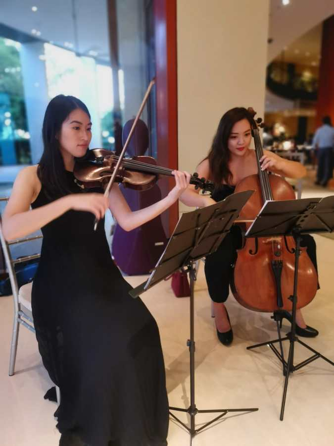 Capella Grand Ballroom Wedding String Duo Violin Cello