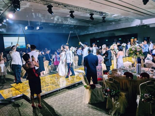 Temasek Club Wedding Ballroom March-in