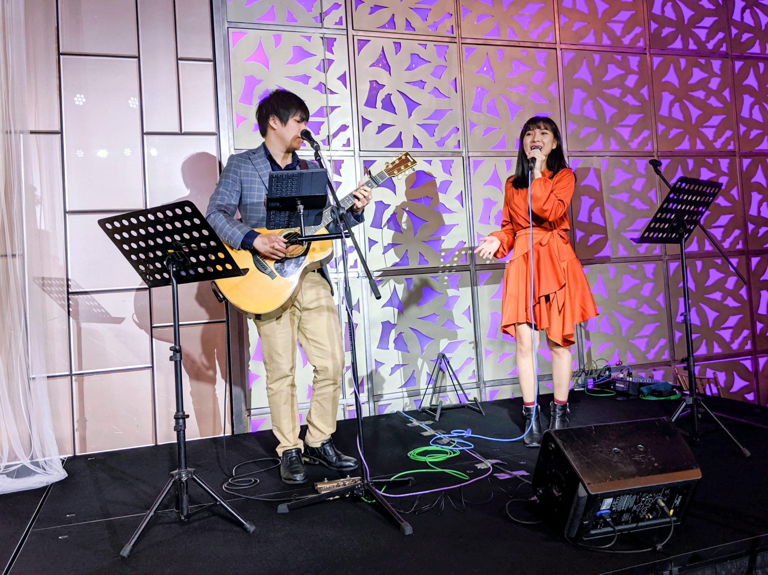 Mandarin Orchard Hotel Singapore Wedding Ballroom Stage Singer Live Band Music Emcee