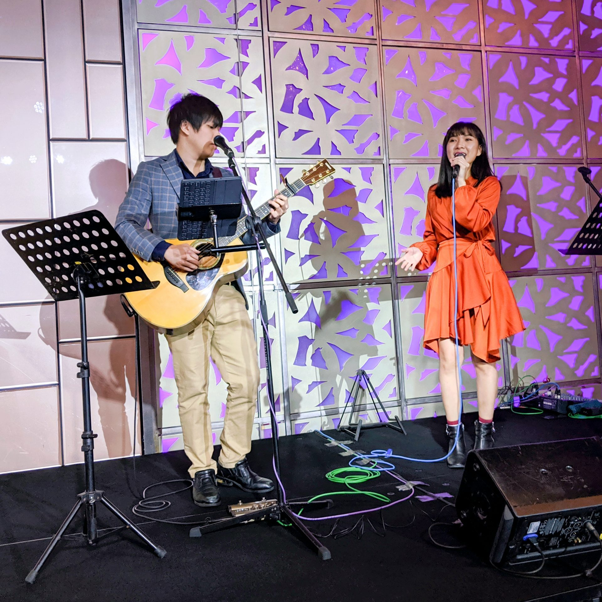 Mandarin Orchard Hotel Singapore Wedding Ballroom Stage Singer Live Band Music Emcee