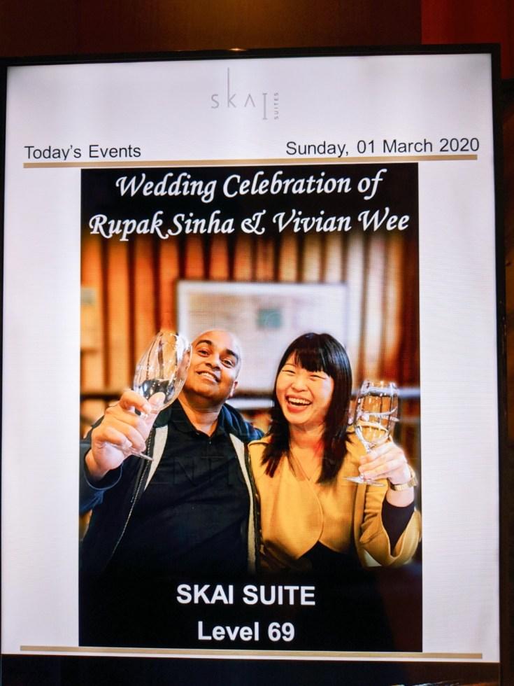 SKAI Lounge Level 69 Swissotel Wedding Events