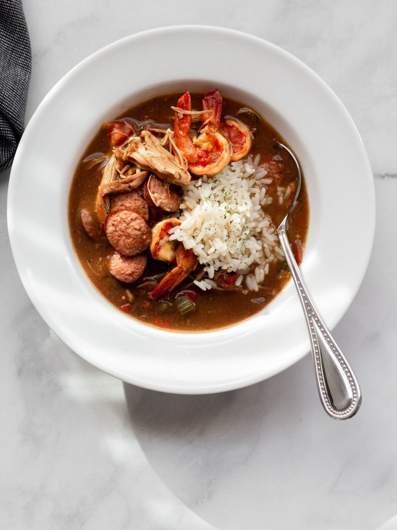 Chicken, shrimp & smoked sausage gumbo | A Little Food