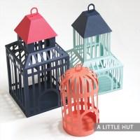 Three birdcages