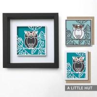 Garden owl gift set