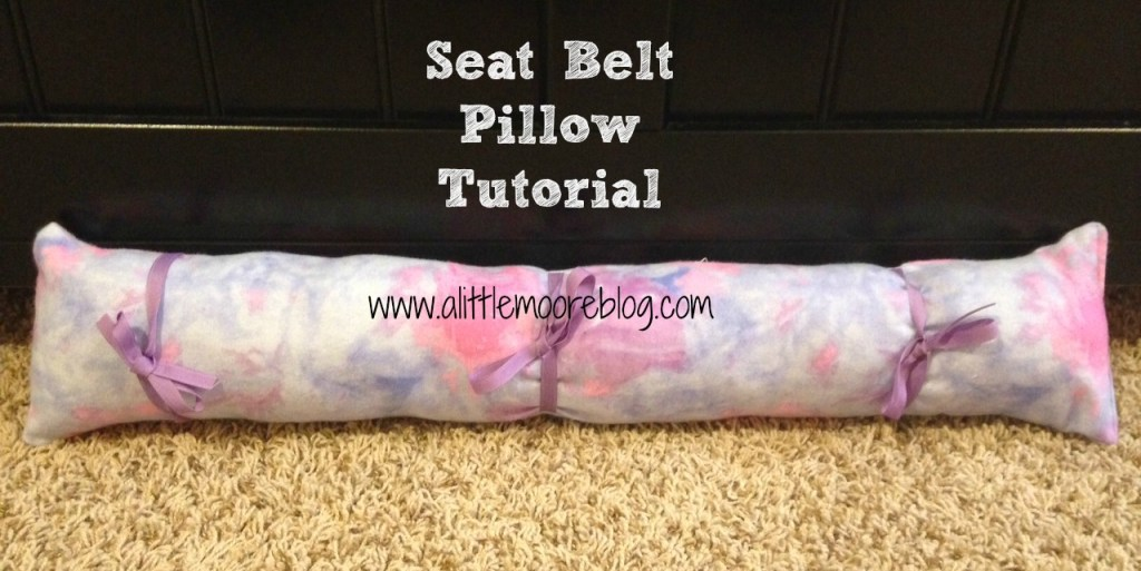 car seat pillow tutorial