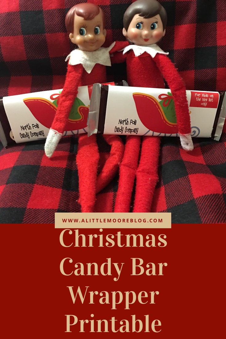 Christmas Candy Bar Wrapper Printable for the Elf on the Shelf
