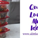 Quick Lunch ideas by Winnipeg dietitian Nutritionist