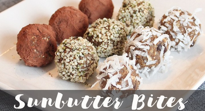 Sunbutter bites by Winnipeg Registered dietitian nutritionist