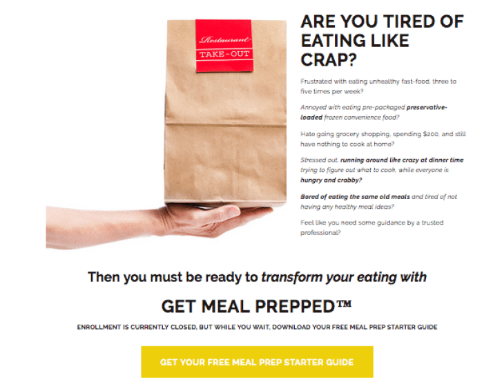 Get meeal prepped a meal planning course by dietitians