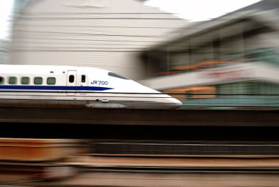 (Above: The Bullet Train in Tokyo, the city with one of the best transport systems)
