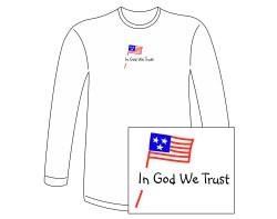 Men's In God We Trust Long Sleeve Tee