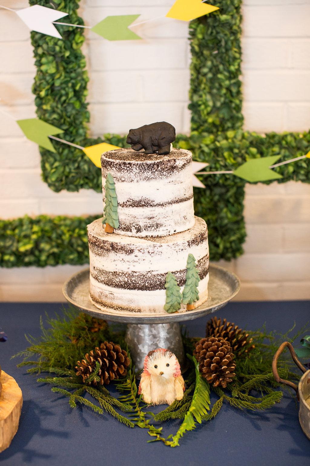 Adventure Themed Baby Shower Dessert Station. Yummy Chocolate Naked Cake By  Buttercream U0026 Sprinkles.