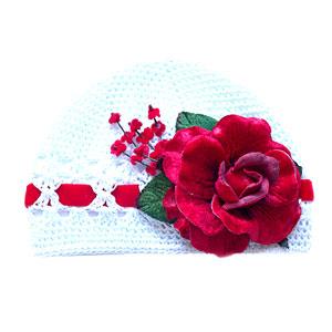 VELVET ROSE HAT