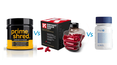 PrimeShred vs Instant Knockout vs PhenQ Comparison