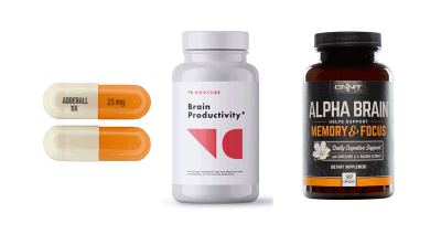 NooCube vs Adderall vs Alpha Brain