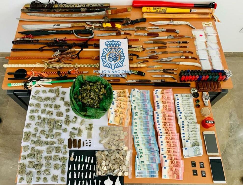 Material incautado por la Policía. Foto: Policía Nacional.