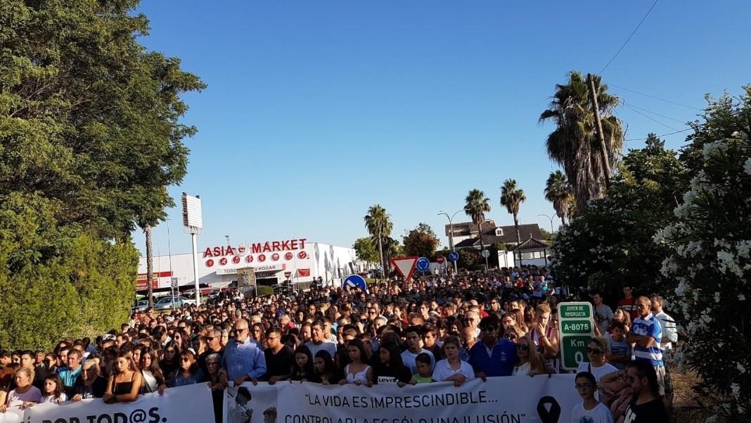 Manifestación convocada en Espartinas en demanda de mejoras en un ramal vial EUROPA PRESS