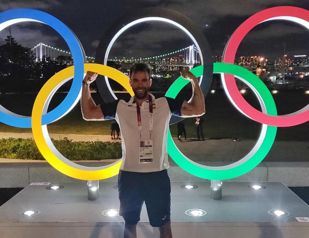 Javier García en la Villa Olímpica.