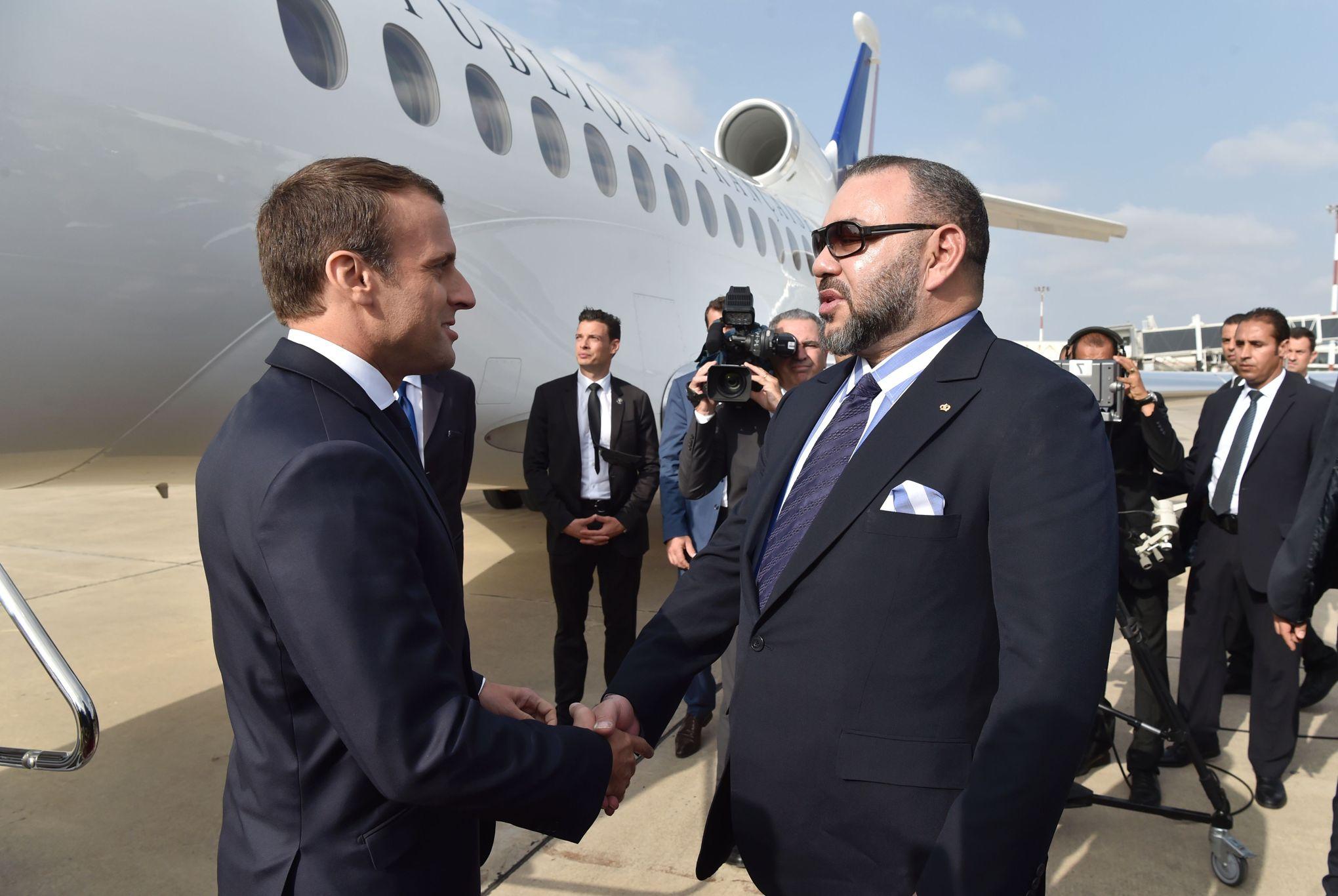 الملك المغربي رفقة الرئيس الفرنسي