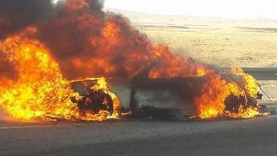 Photo of فيديو لحظة انفجار سيارة بخميس الخشنة اليوم