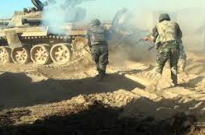 Assad forces in the Adra industrial zone published September 25