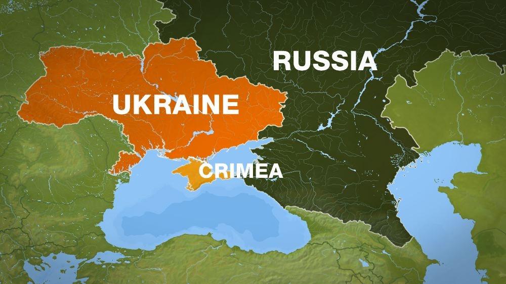 Russa Map Crimea Ukrane