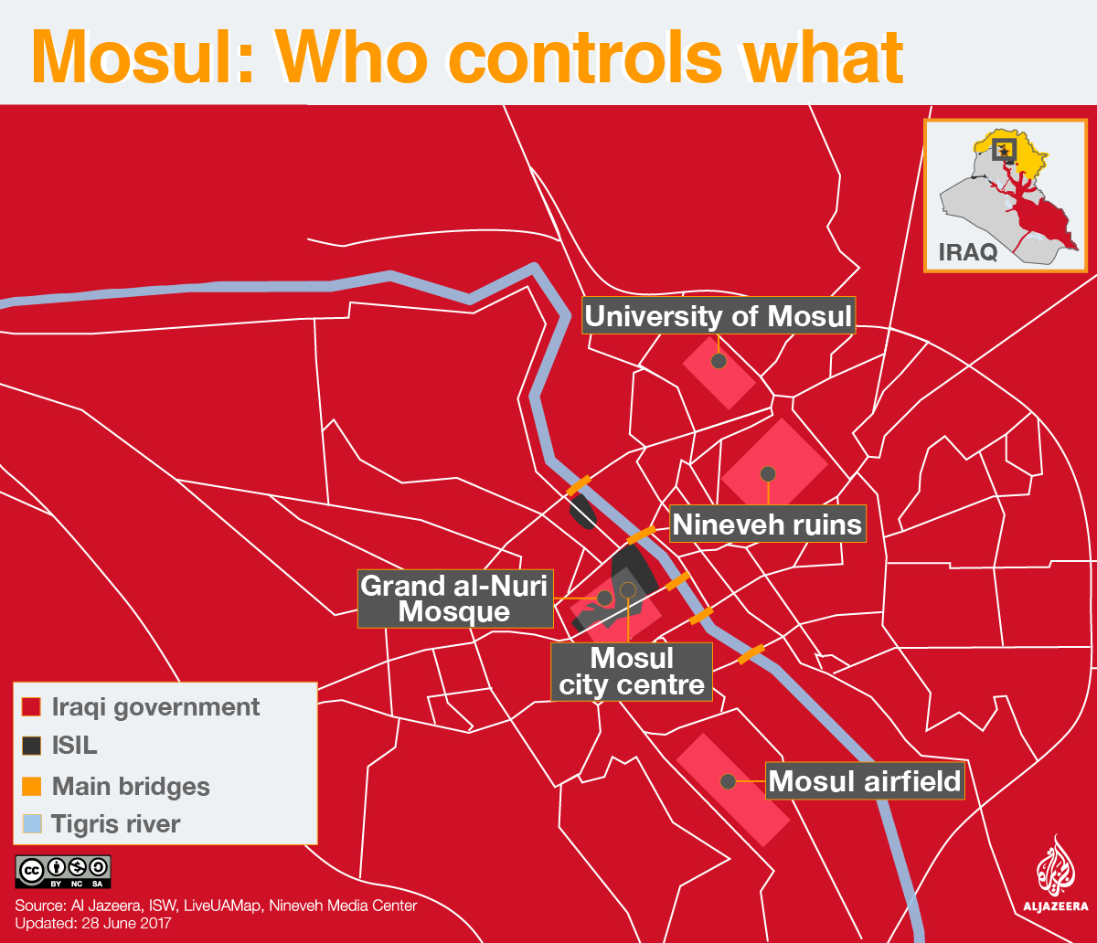 mosul war map infographic who controls what isis isil